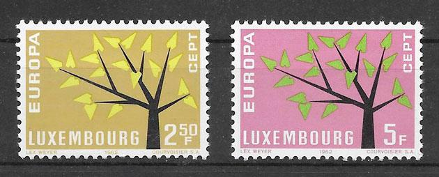 colección sellos tema Europa Luxemburgo 1962