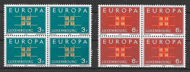 colección sellos tema Europa Luxemburgo 1963