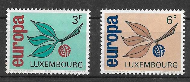 sellos tema Europa Luxemburgo 1965