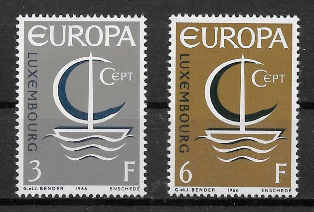 sellos tema Europa Luxemburgo 1966