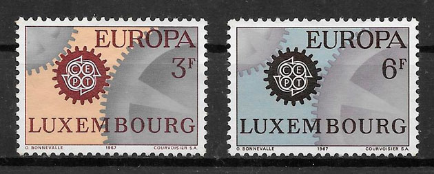 sellos tema Europa Luxemburgo 1967