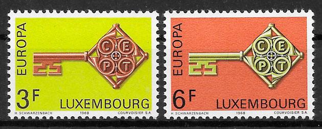 colección sellos Europa Luxemburgo 1968