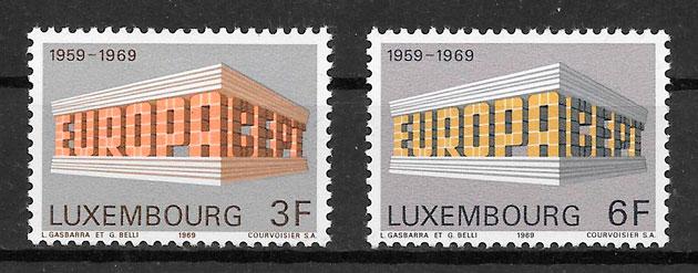 filatelia colección tema Europa Luxemburgo 1969