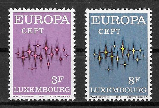 sellos Europa Luxemburgo 1972
