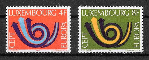 sellos Europa Luxemburgo 1973
