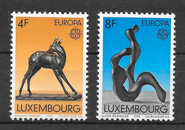 sellos Europa Luxemburgo 1974