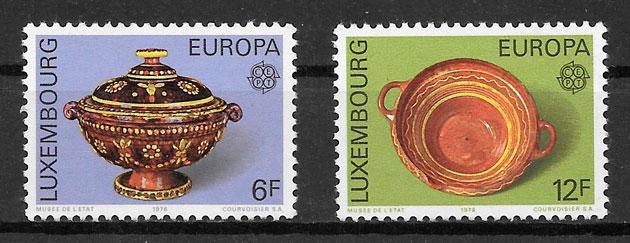 filatelia colección tema Europa Luxemburgo 1976