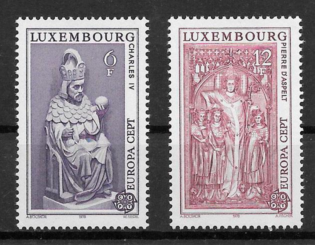 sellos tema Europa Luxemburgo 1978