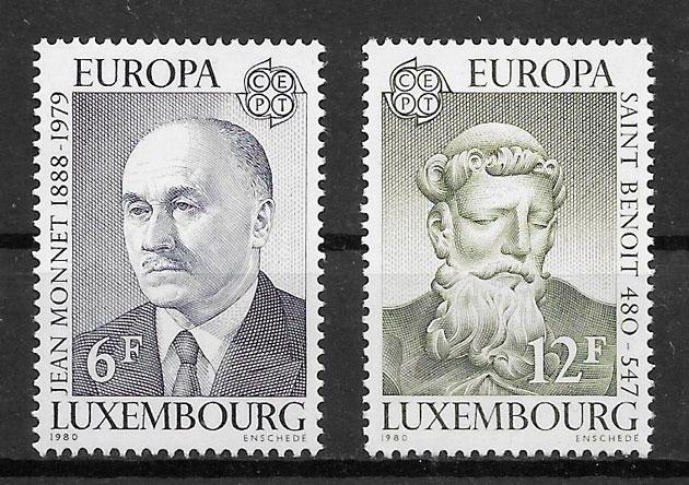 sellos tema Europa Luxemburgo 1980