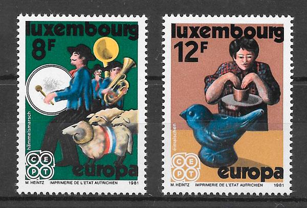 sellos tema Europa Luxemburgo 1981