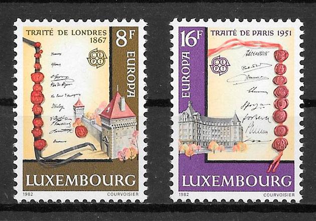 sellos tema Europa Luxemburgo 1982
