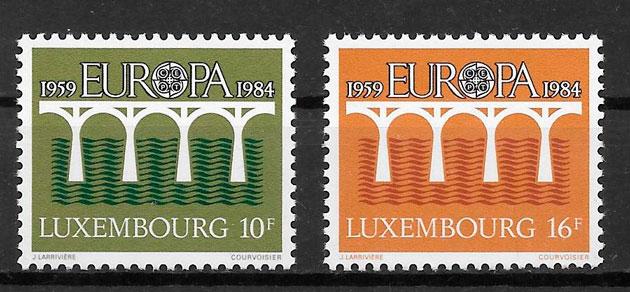 filatelia tema Europa Luxemburgo 1984