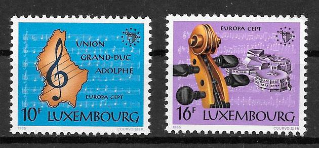 filatelia tema Europa Luxemburgo 1985