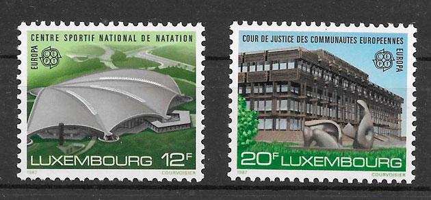 colección sellos tema Europa Luxemburgo 1987