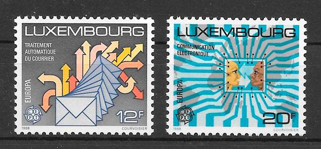 colección sellos tema Europa Luxemburgo 19878