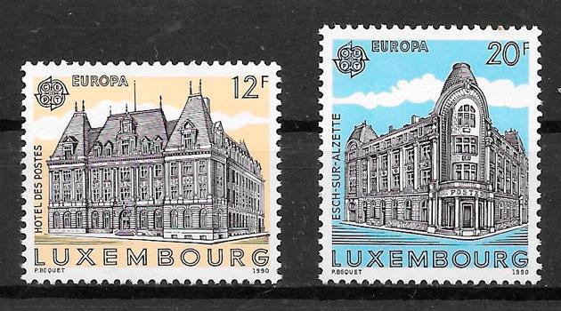 filatelia tema Europa Luxemburgo 1990