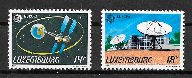 filatelia tema Europa Luxemburgo 1991