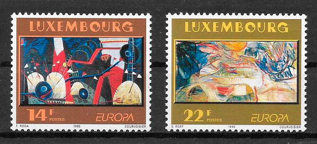 colección sellos tema Europa Luxemburgo 1993