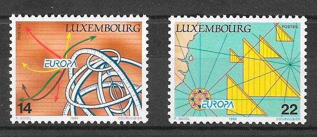 colección sellos tema Europa Luxemburgo 1994