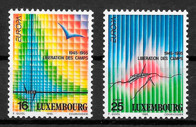 colección sellos tema Europa Luxemburgo 1995