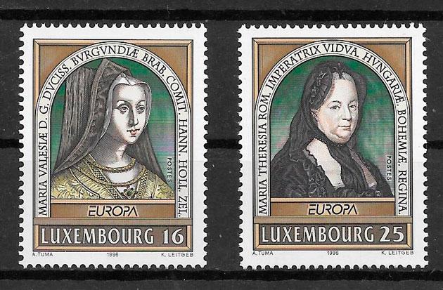 sellos Europa Luxemburgo-1996-