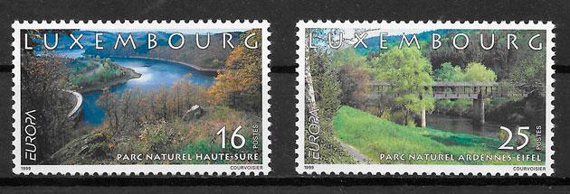 sellos Europa Luxemburgo-1997