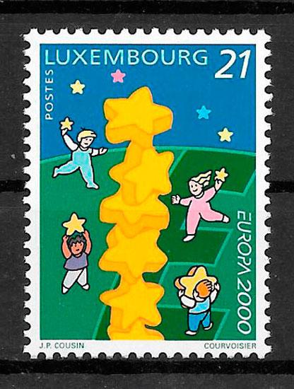 filatelia colección tema Europa Luxemburgo 2000