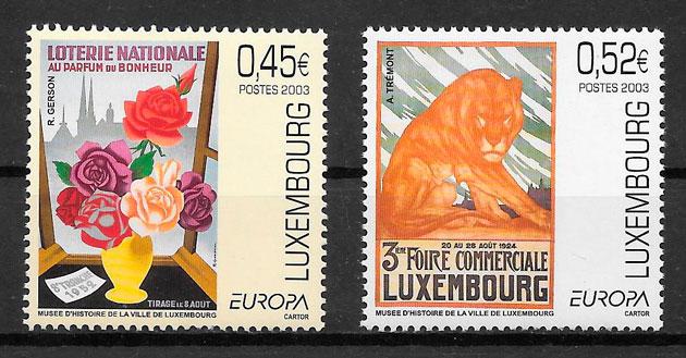 colección sellos tema Europa Luxemburgo 2003