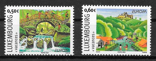 colección sellos tema Europa Luxemburgo 2004