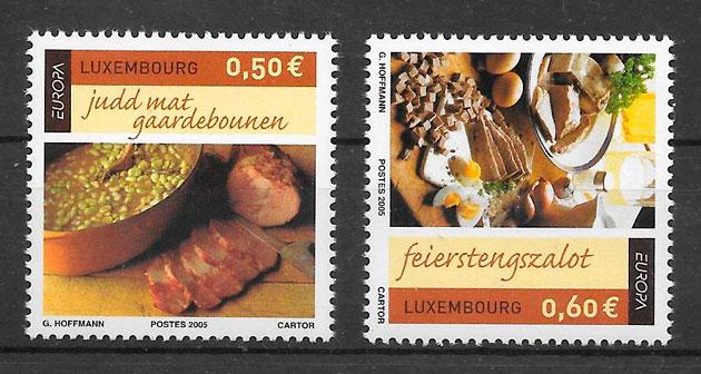 colección sellos tema Europa Luxemburgo 2005