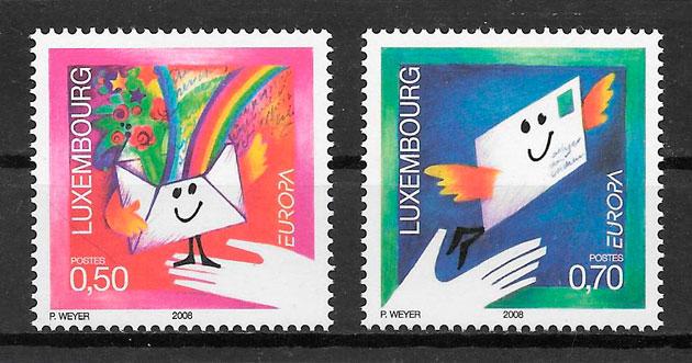 filatelia tema Europa Luxemburgo 2008