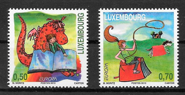 sellos tema Europa Luxemburgo 2010