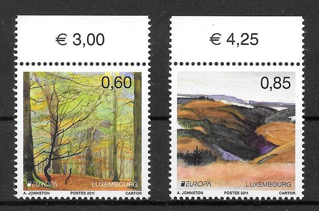 sellos tema Europa Luxemburgo 2011
