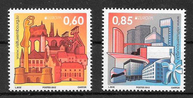 sellos tema Europa Luxemburgo 2012