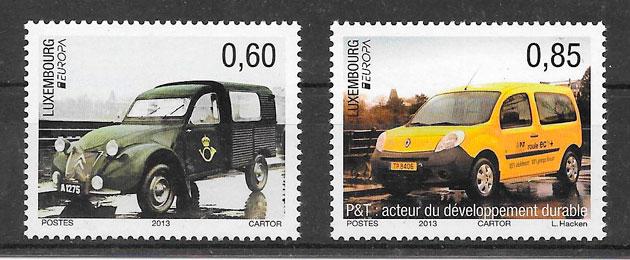 sellos tema Europa Luxemburgo 2013