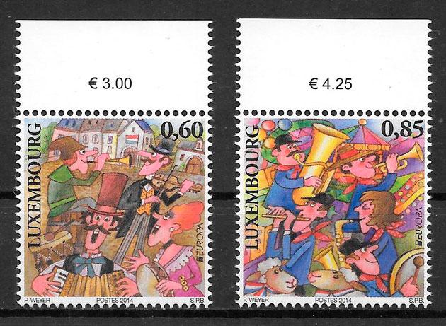 filatelia colección tema Europa Luxemburgo 2014