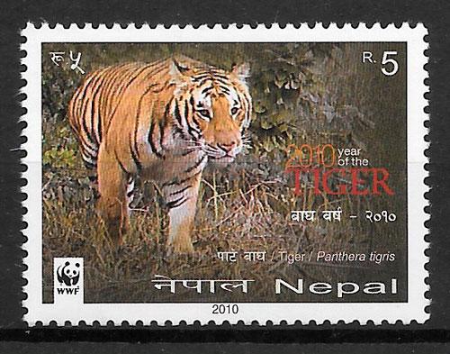 colección sellos año lunar Nepal 2010