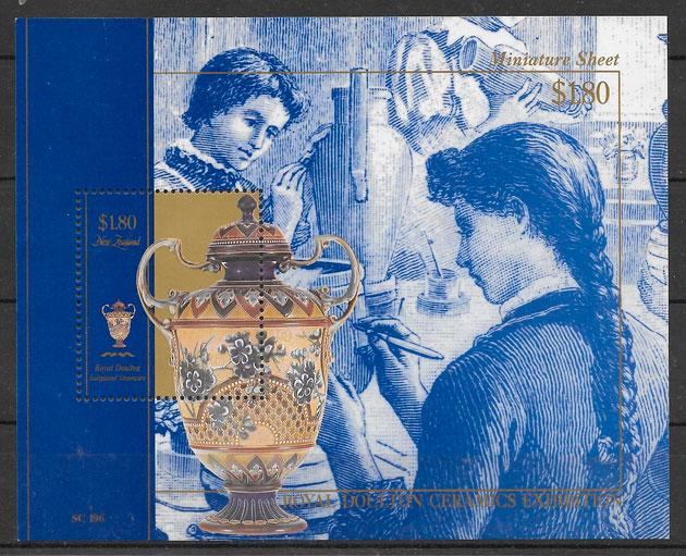 sellos arte Nueva Zelanda 1993