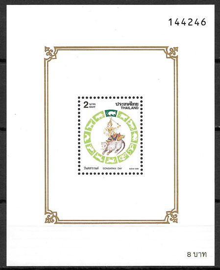 sellos año lunar Tailandia 1996