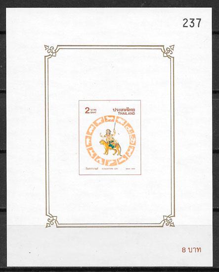 filatelia colección año lunar Tailandia 1998