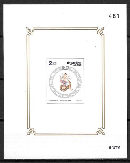 sellos año lunar Tailandia 2001