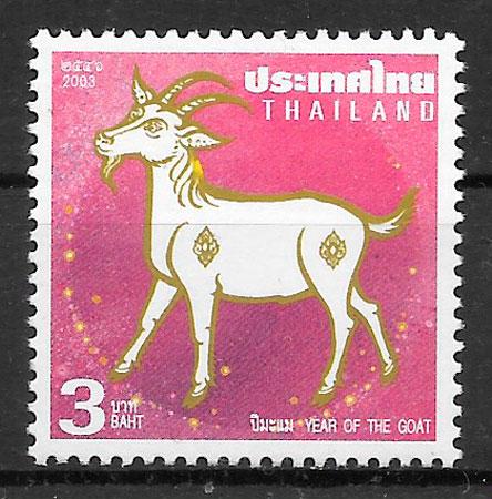 sellos año lunar Tailandia 2002