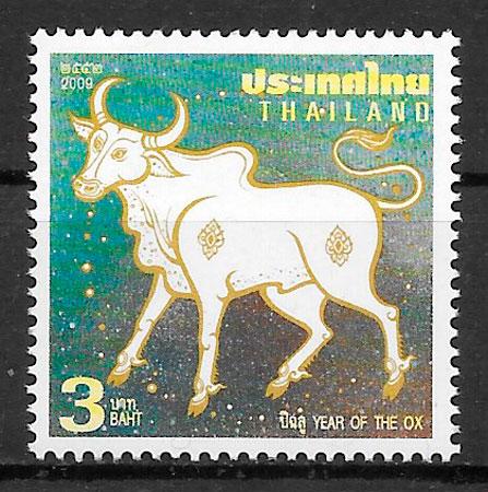 sellos año lunar Tailandia 2009