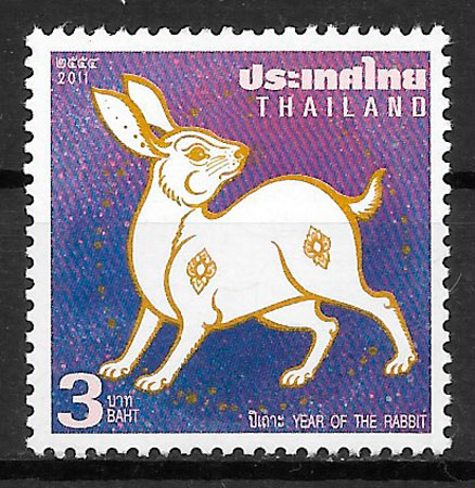 filatelia año lunar Tailandia 2011