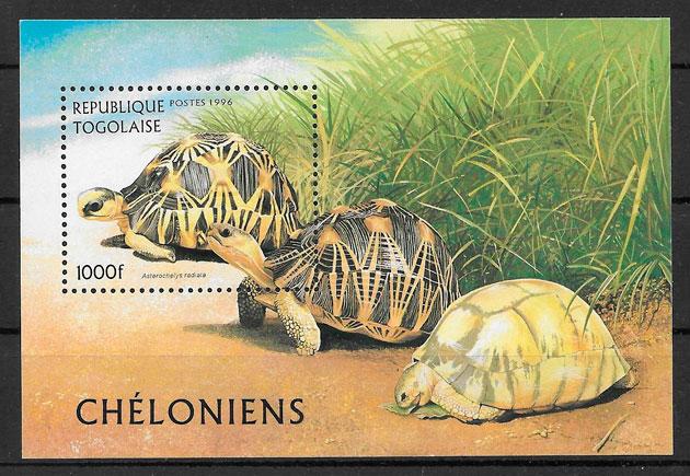 filatelia colección fauna Togo 1996