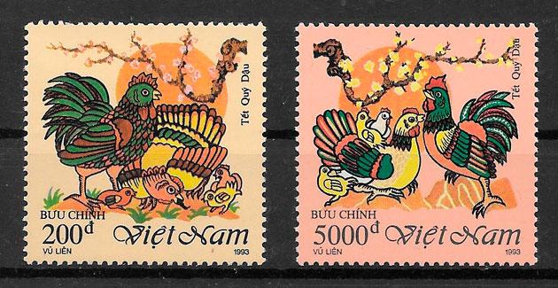 sellos año lunar Viet Nam 1993