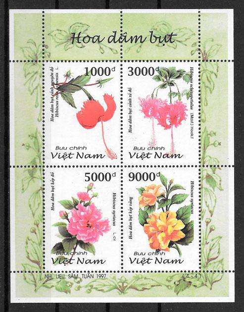 filatelia flora Viet Nam 1997