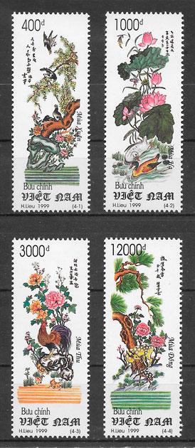 filatelia flora Viet Nam 1999