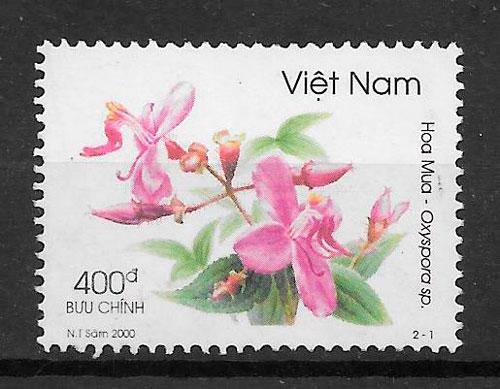 colección sellos flora Viet Nam 2000