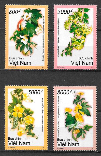 sellos flora Viet Nam 2006